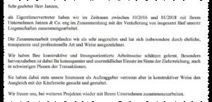 Empfehlung für Janzen & Co. von Curzon Advisers